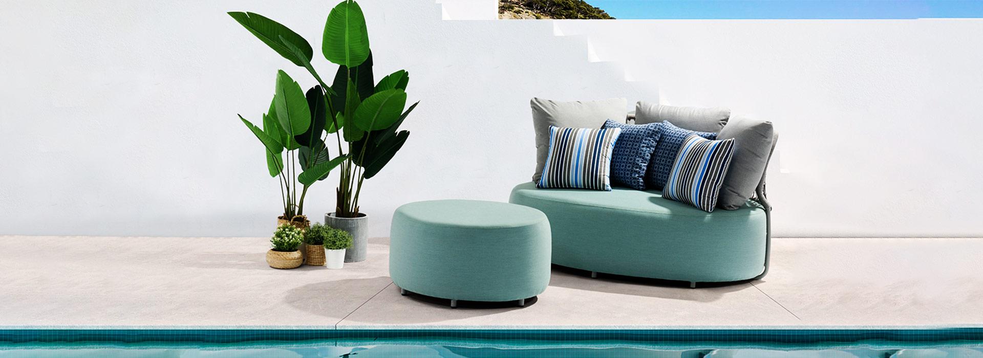 COBBLESTONE Alum. Fabric Lounge Set