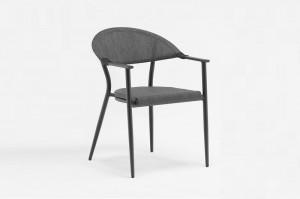 Outdoor Furniture HELSINKI Alum. Textilene Arm Chair