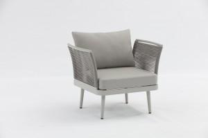 ST. MORITZ  New Design Hot Sale Aluminium Rope Lounge 3pcs Set K/D Outdoor Garden Patio Furniture China Factory Supplies