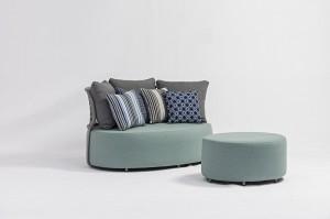 Outdoor Furniture COBBLESTONE Lounge Set Alum. Upholstery Eyecatching Luxury Size Quick Dry Foam Hotel Project Resorts Villa Pool Side