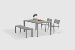 Outdoor Furniture DUIS Full Alum. Dining 4pcs Set