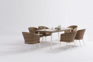 Outdoor Furniture ECCO Alum. Wicker Dining 7pcs Set