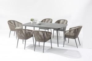 Professional DesignOutdoor Lounger- Outdoor Furniture Manufacture   ECCO  Alum. Textilene Rope Dining Set – Jacrea