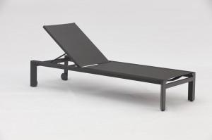 EROS New Aluminium Textilene Sun Loungers High End China Factory Outdoor Garden Patio Furniture