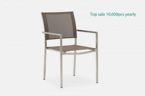 MELA Top Sale Stainless Steel Textilene Chair Outdoor Garden Patio Furniture China Factory Supplies