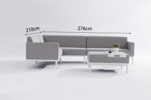 VIENNA Aluminium Upholstery Lounge Set Outdoor Garden Patio Furniture China Factory Supplies