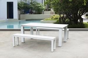 Outdoor Furniture MARSEILLE Full Alum. Lounge 3pcs Set
