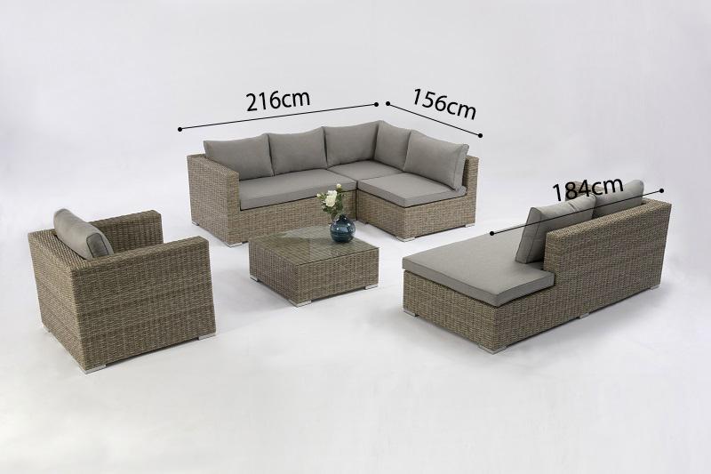 SHUMEN Aluminium Rattan Corner Lounge Set Modular Sectional Sofa Outdoor Garden Patio Furniture China Factory Supplies Featured Image