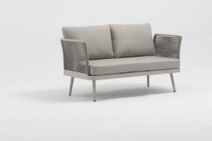 ST. MORITZ New Design Hot Sale Aluminium Rope Lounge Sofa Set K/D Outdoor Garden Patio Funiture China Factory Supplies