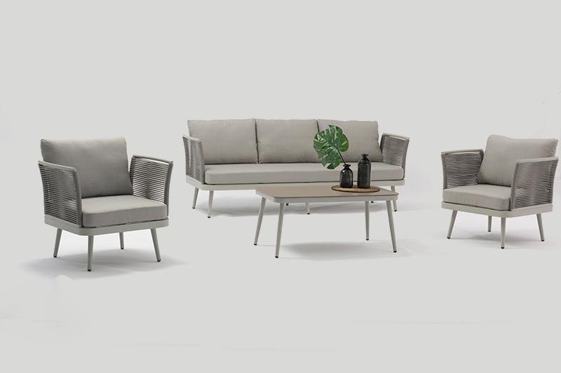 ST. MORITZ New Design Hot Sale Aluminium Rope Lounge Sofa Set K/D Outdoor Garden Patio Funiture China Factory Supplies Featured Image