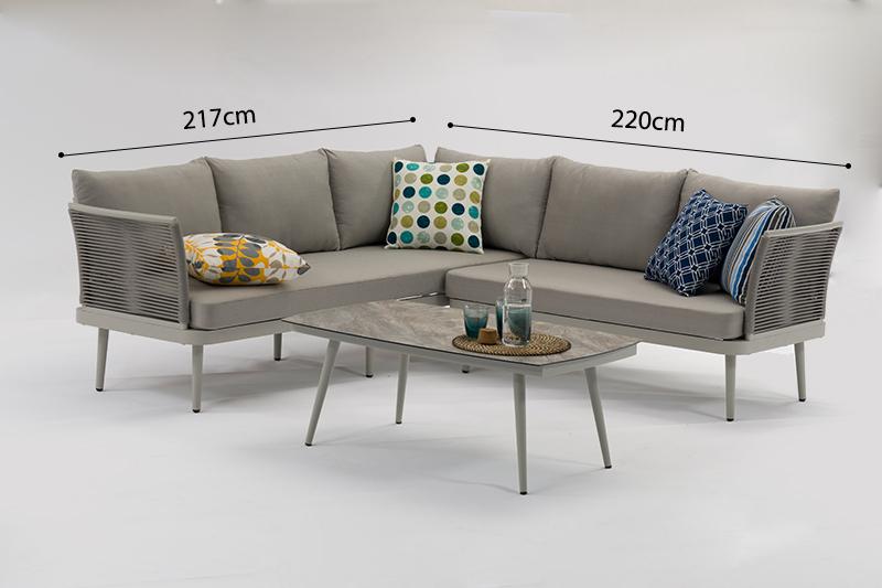 ST. MORITZ  New Design Hot Sale Aluminium Rope Lounge 3pcs Set K/D Outdoor Garden Patio Furniture China Factory Supplies Featured Image