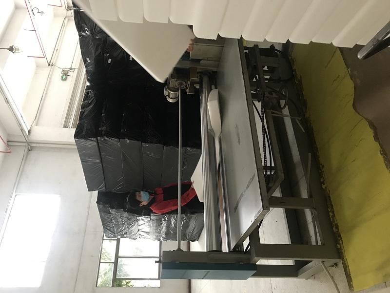 Jacrea team visting sponge factory of  outdoor cushion (1)