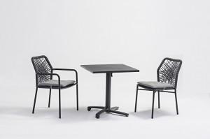 Outdoor Furniture KHERSON Alum. Rope Dining 3pcs Set