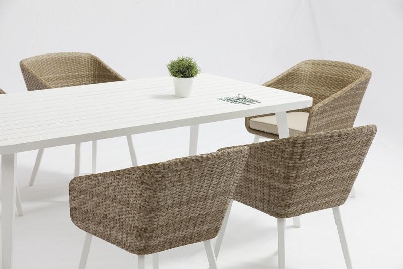 China Garden Outdoor Furniture Kivik Alum Wicker Dining Set With Rectangular Table Factory And Manufacturers Jacrea