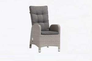 Outdoor Furniture LAGEN Alum. Twin Half Round Wicker Air Pump Dining Chair