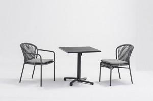 Outdoor Furniture  LESVOS Alum. Rope Dining Set