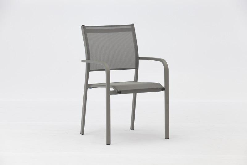 POSEI Aluminium Textilene Chair Outdoor Garden Patio Furniture China Factory Supplies Featured Image