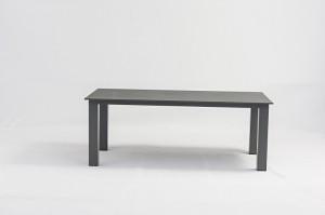 Outdoor Furniture SIENA Alum. Rope Dining 7pcs Set 220x100cm Alum. Table Durable Leg
