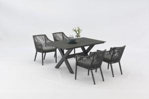 Outdoor Furniture SIENA Alum. Rope Dining 5pcs Set