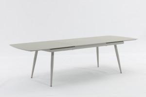ST. MORITZ New Design Aluminium Rope Dining Set Extension Table 200/280x100cm Outdoor Garden Patio Furniture China Factory Supplies