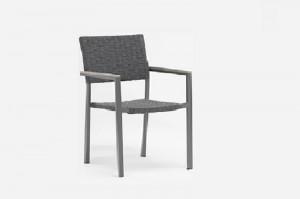Patio Furniture BANGOR Alum Rope Arm Chair