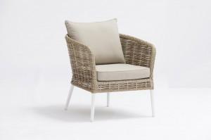 Garden Furniture Ecco Alum. Wicker Rattan Lounge 4pcs Set One Box Packing Mail Order Internet Selling Convenient Transportation