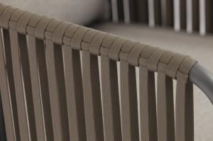 Outdoor Furniture OLAND Alum. Textilene Rope Lounge 4pcs Set K/D One Box Packing Mail Order Internet Selling