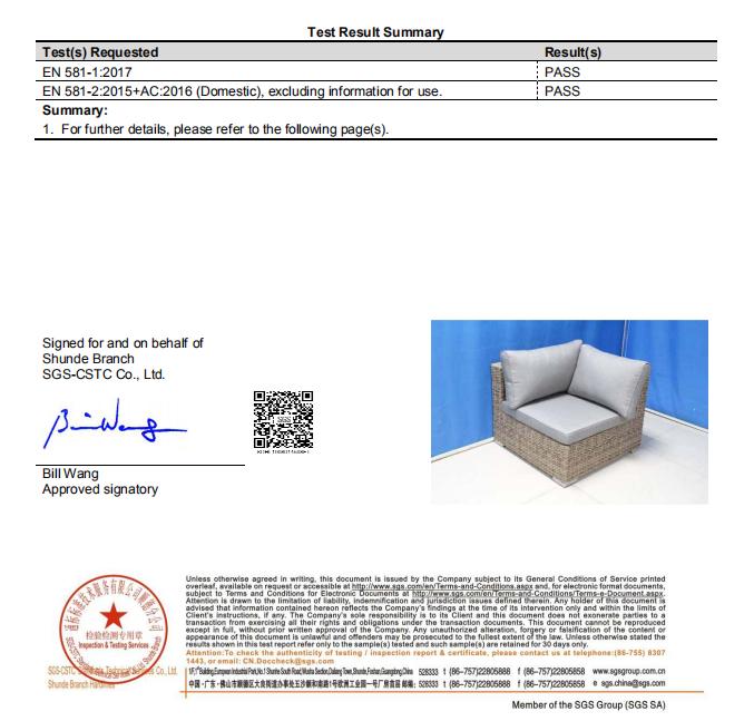 shumen corner sofa test report