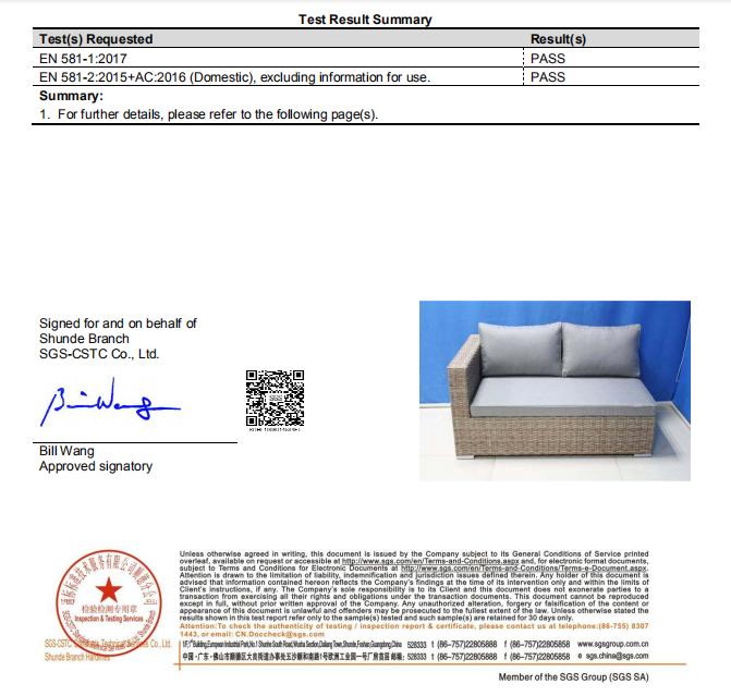 shumen right sofa test report