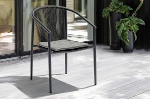 Outdoor Furniture Factory WEILBURG Alum. Rope Chair